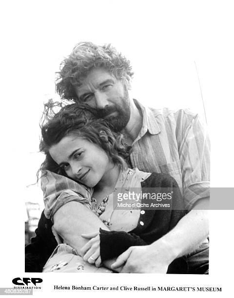 Actress Helena Bonham Carter and actor Clive Russell pose for the movie ' Margaret's Museum ' circa 1995