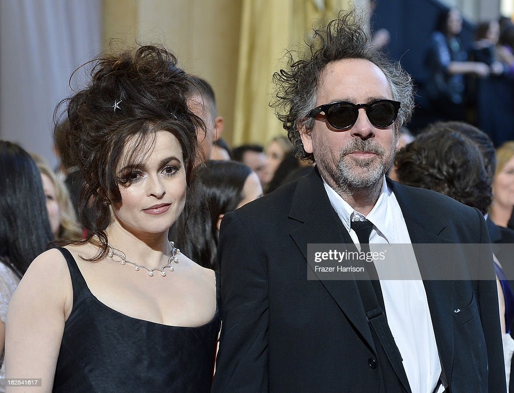 Actress <a gi-track='captionPersonalityLinkClicked' href=/galleries/search?phrase=Helena+Bonham+Carter&family=editorial&specificpeople=210567 ng-click='$event.stopPropagation()'>Helena Bonham Carter</a> and director <a gi-track='captionPersonalityLinkClicked' href=/galleries/search?phrase=Tim+Burton&family=editorial&specificpeople=206342 ng-click='$event.stopPropagation()'>Tim Burton</a> arrive at the Oscars at Hollywood & Highland Center on February 24, 2013 in Hollywood, California.