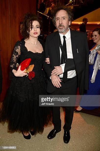 Actress Helena Bonham Carter and director Tim Burton attend HBO's Official Golden Globe Awards After Party held at Circa 55 Restaurant at The Beverly...