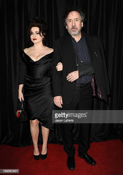 Actress Helena Bonham Carter and director Tim Burton attend the 38th annual Los Angeles Film Critics Association Awards at InterContinental Hotel on...