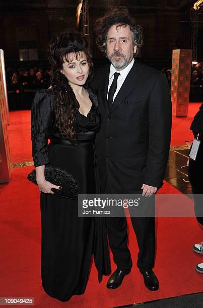 Actress Helena Bonham Carter and filmmaker Tim Burton attend the 2011 Orange British Academy Film Awards at The Royal Opera House on February 13 2011...