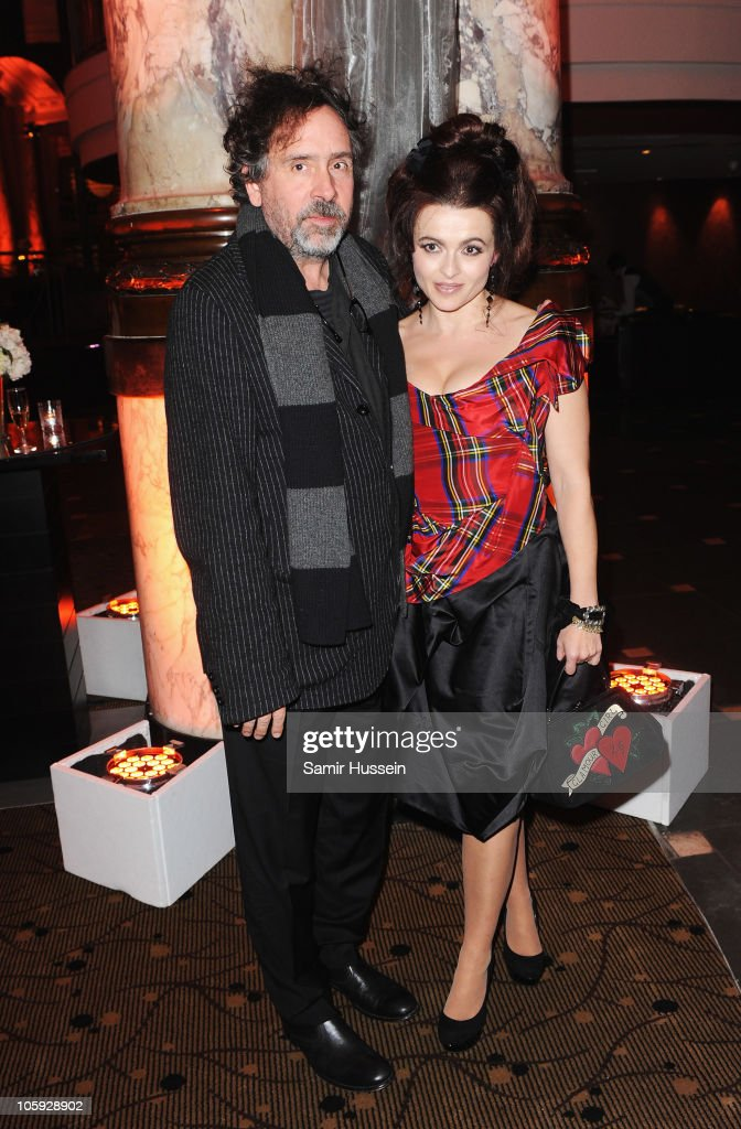 Actress <a gi-track='captionPersonalityLinkClicked' href=/galleries/search?phrase=Helena+Bonham+Carter&family=editorial&specificpeople=210567 ng-click='$event.stopPropagation()'>Helena Bonham Carter</a> and <a gi-track='captionPersonalityLinkClicked' href=/galleries/search?phrase=Tim+Burton&family=editorial&specificpeople=206342 ng-click='$event.stopPropagation()'>Tim Burton</a> attend the American Express Gala Screening Afterparty of 'The King's Speech' during the 54th BFI London Film Festival at Just St. James on October 21, 2010 in London, England.
