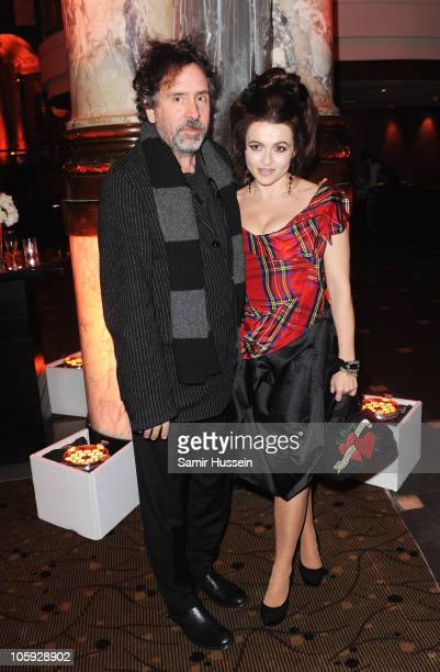 Actress Helena Bonham Carter and Tim Burton attend the American Express Gala Screening Afterparty of 'The King's Speech' during the 54th BFI London...