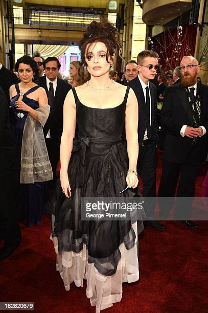 Actress Helena Bonham Carter arrive at the Oscars at Hollywood Highland Center on February 24 2013 in Hollywood California at Hollywood Highland...