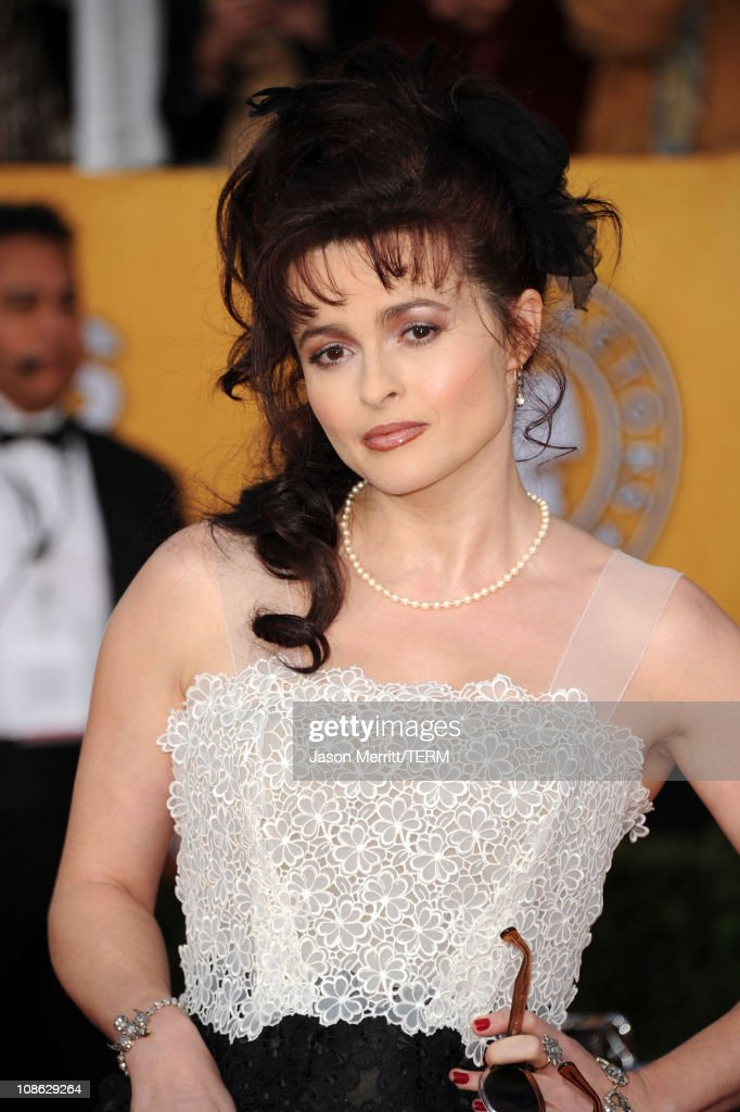 Actress <a gi-track='captionPersonalityLinkClicked' href=/galleries/search?phrase=Helena+Bonham+Carter&family=editorial&specificpeople=210567 ng-click='$event.stopPropagation()'>Helena Bonham Carter</a> arrives at the 17th Annual Screen Actors Guild Awards held at The Shrine Auditorium on January 30, 2011 in Los Angeles, California.