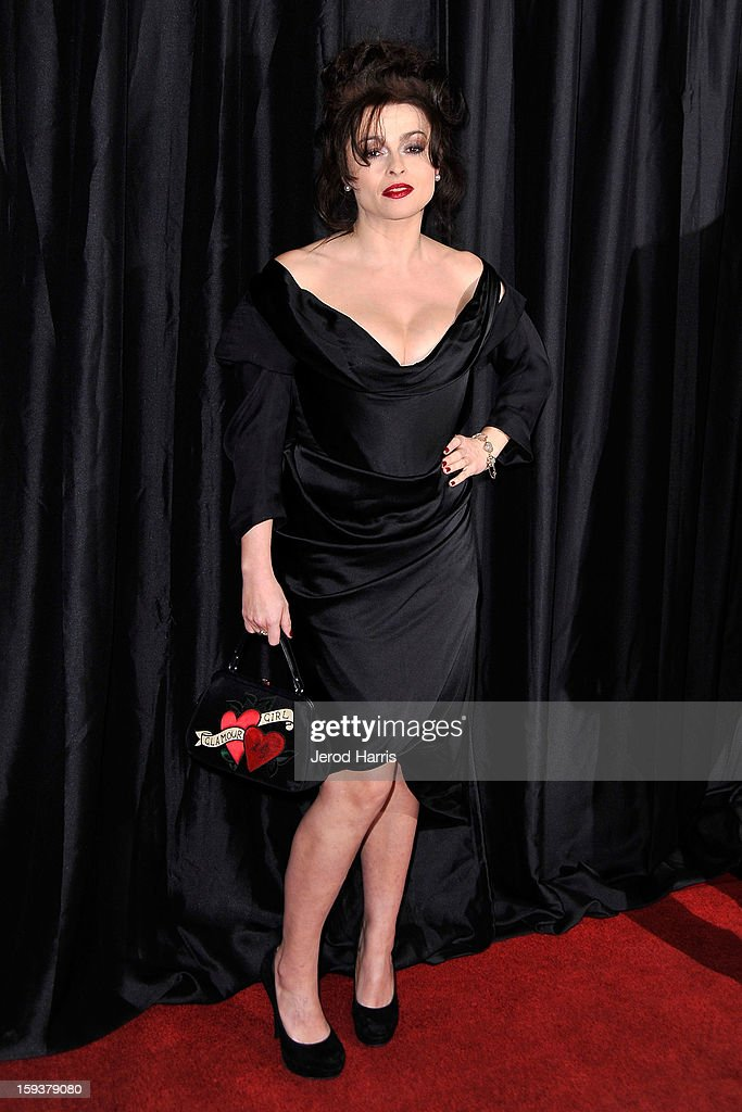 Actress <a gi-track='captionPersonalityLinkClicked' href=/galleries/search?phrase=Helena+Bonham+Carter&family=editorial&specificpeople=210567 ng-click='$event.stopPropagation()'>Helena Bonham Carter</a> arrives at the 38th Annual Los Angeles Film Critics Association Awards at InterContinental Hotel on January 12, 2013 in Century City, California.