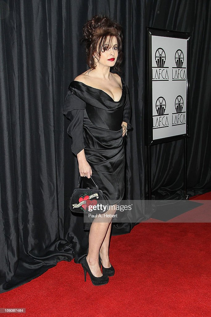 Actress Helena Bonham Carter arrives at the 38th Annual Los Angeles Film Critics Association Awards held at the InterContinental Hotel on January 12, 2013 in Century City, California.