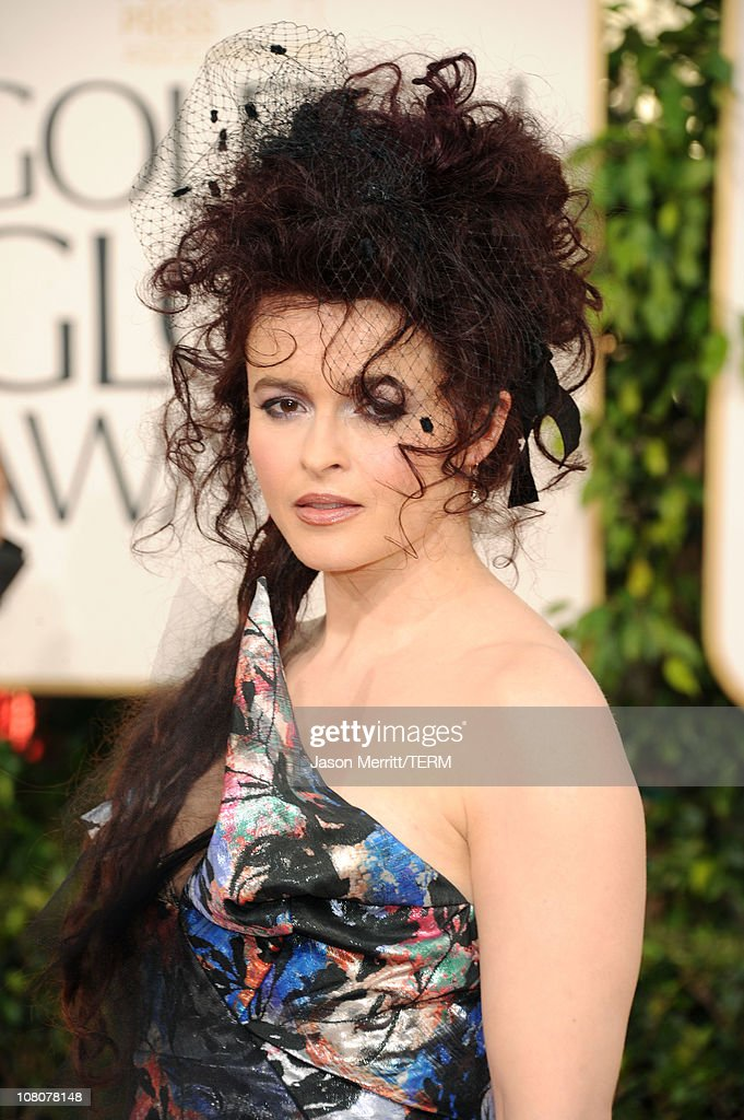 Actress Helena Bonham Carter arrives at the 68th Annual Golden Globe Awards held at The Beverly Hilton hotel on January 16 2011 in Beverly Hills...