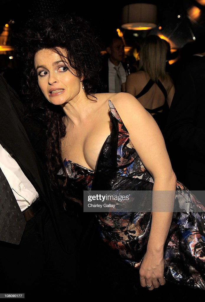 Actress <a gi-track='captionPersonalityLinkClicked' href=/galleries/search?phrase=Helena+Bonham+Carter&family=editorial&specificpeople=210567 ng-click='$event.stopPropagation()'>Helena Bonham Carter</a> attend The Weinstein Company and Relativity Media's 2011 Golden Globe After Awards Party presented by Marie Claire held at The Beverly Hilton hotel on January 16, 2011 in Beverly Hills, California.