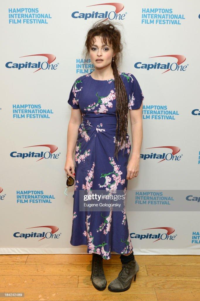 Actress Helena Bonham Carter attends the 21st Annual Hamptons International Film Festival on October 12, 2013 in East Hampton, New York.
