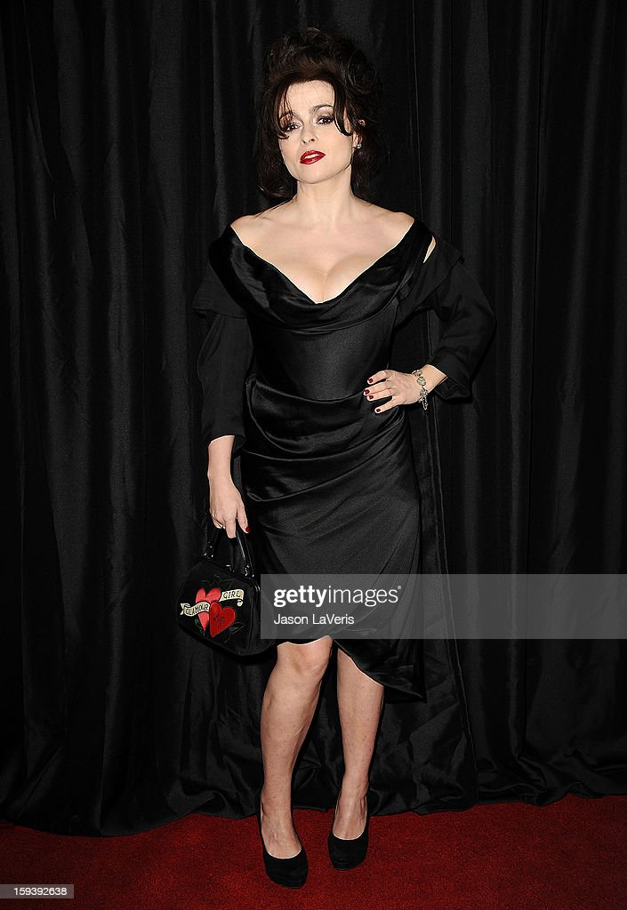 Actress <a gi-track='captionPersonalityLinkClicked' href=/galleries/search?phrase=Helena+Bonham+Carter&family=editorial&specificpeople=210567 ng-click='$event.stopPropagation()'>Helena Bonham Carter</a> attends the 38th annual Los Angeles Film Critics Association Awards at InterContinental Hotel on January 12, 2013 in Century City, California.