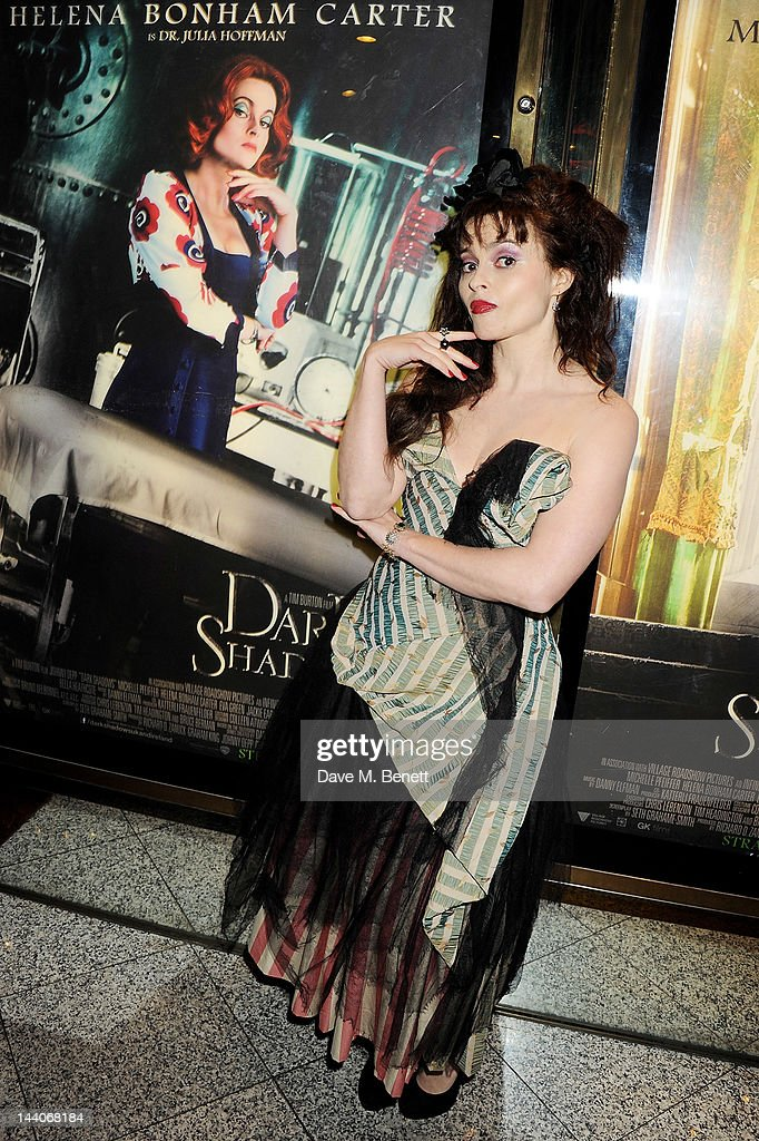 Actress Helena Bonham Carter attends the European Premiere of 'Dark Shadows' at Empire Leicester Square on May 9, 2012 in London, England.