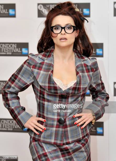 Actress Helena Bonham Carter attends 'The Kings Speech' photocall during 54th BFI London Film Festival at the Vue West End on October 21 2010 in...