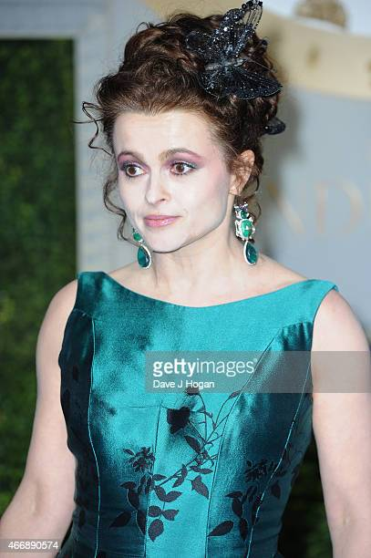 Actress Helena Bonham Carter attends the UK Premiere of 'Cinderella' at Odeon Leicester Square on March 19 2015 in London England