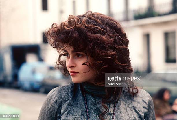 Actress Helena Bonham Carter during the filming of 'Howards End' London March 1991