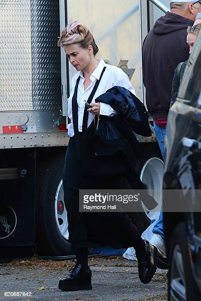 Actress Helena Bonham Carter is seen on set of 'Ocean's Eight' on November 2 2016 in New York City