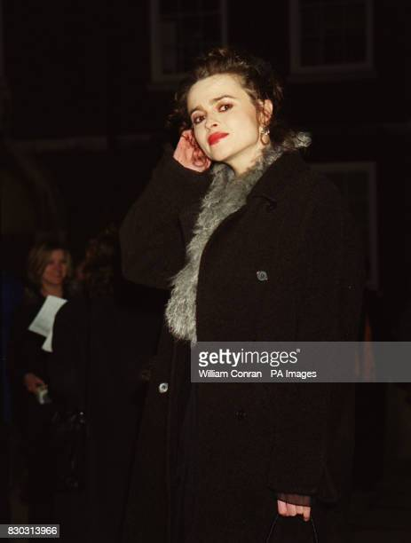 Actress Helena BonhamCarter arrives at London's historic Middle Temple Hall where Kenneth Branagh received the John Gielgud Golden Quill Award given...