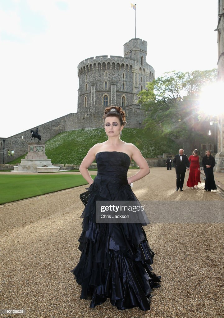 Actress Helena BonhamCarter arrives for a dinner to celebrate the work of The Royal Marsden hosted by the Duke of Cambridge at Windsor Castle on May...
