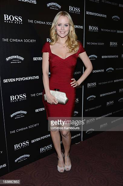 Actress Helena Mattsson attends The Cinema Society with Hugo Boss and Appleton Estate screening of 'Seven Psychopaths' at Clearview Chelsea Cinemas...