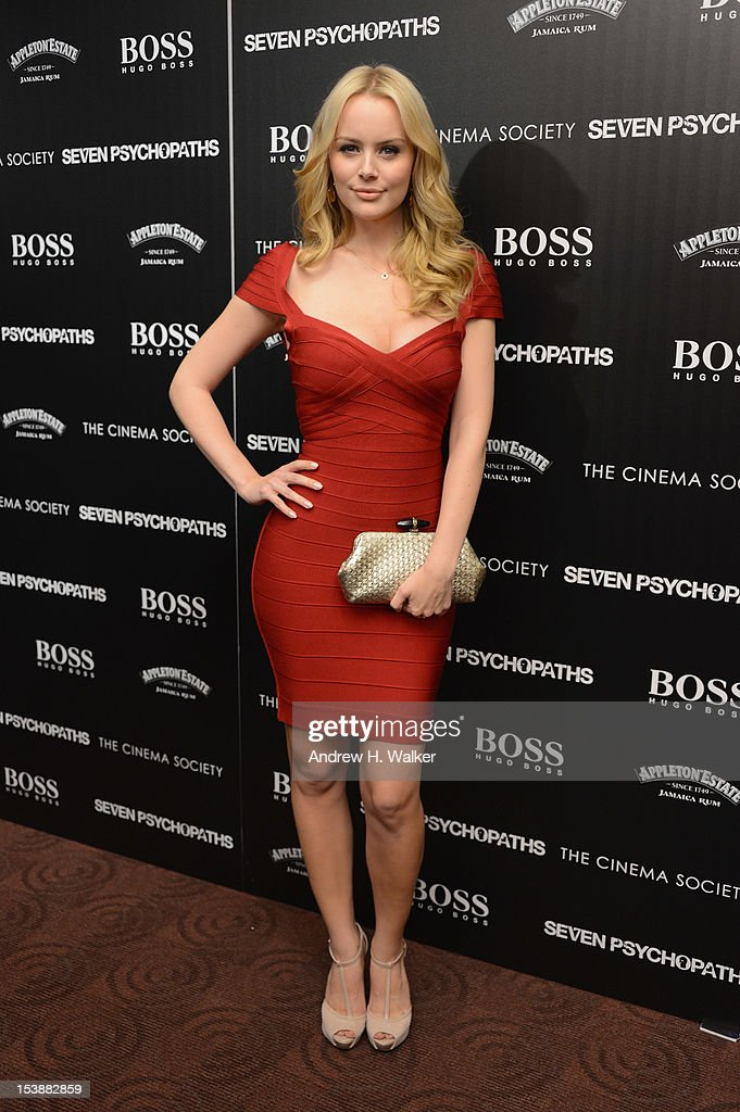 Actress Helena Mattsson attends The Cinema Society with Hugo Boss and Appleton Estate screening of 'Seven Psychopaths' at Clearview Chelsea Cinemas on October 10, 2012 in New York City.