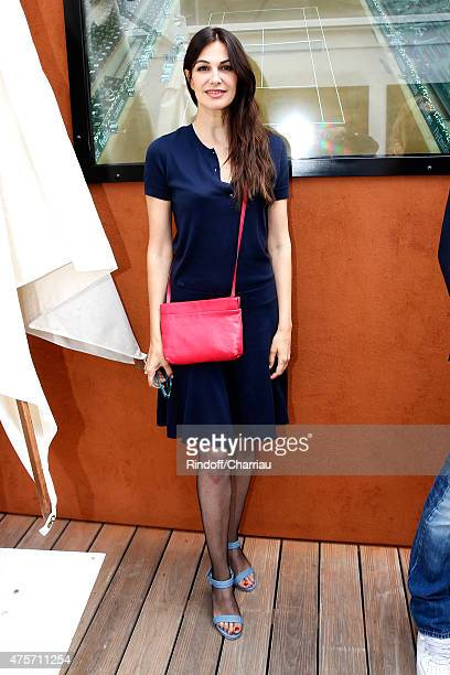 Actress Helena Noguerra attend the 2015 Roland Garros French Tennis Open Day Eleven on June 3 2015 in Paris France