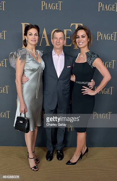 Actress Helena Noguerra CEO of Piaget SA Philippe Leopold Metzger and actress Berenice Marlohe attend the 30th Annual Film Independent Spirit Awards...