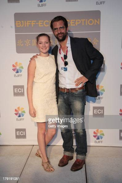 Actress Helena Phil and director Rick Ostermann attend the Beijing International Film Festival Organization Committee Reception during the 70th...