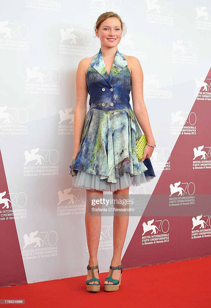 Actress <a gi-track='captionPersonalityLinkClicked' href=/galleries/search?phrase=Helena+Phil&family=editorial&specificpeople=11311097 ng-click='$event.stopPropagation()'>Helena Phil</a> attends 'Wolfskinder' Photocall during the 70th Venice International Film Festival on August 29, 2013 in Venice, Italy.