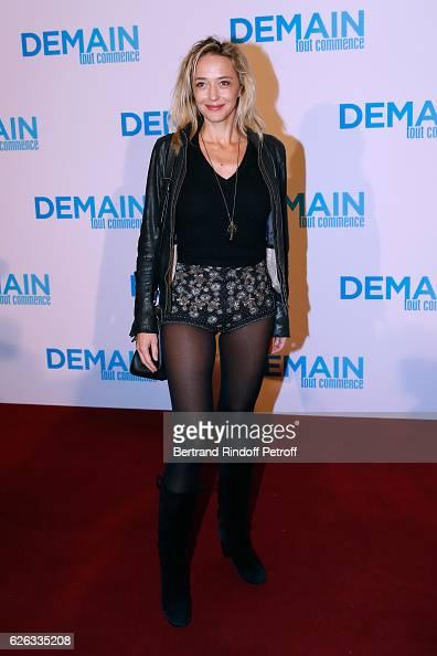 Actress Helene de Fougerolles attends the 'Demain Tout Commence' Paris Premiere at Cinema Le Grand Rex on November 28 2016 in Paris France