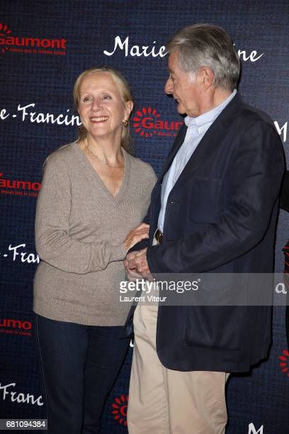 Actress Helene Vincent and Actor Philippe Laudenbach attend 'MarieFrancine' Paris Premiere at Cinema l'Arlequin on May 9 2017 in Paris France