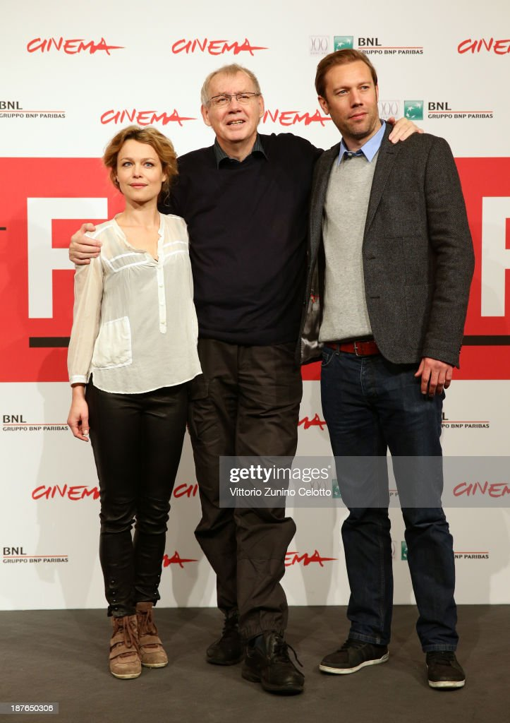 Actress Helle Fagralid, director Nils Malmros and actor <a gi-track='captionPersonalityLinkClicked' href=/galleries/search?phrase=Jakob+Cedergren&family=editorial&specificpeople=2394592 ng-click='$event.stopPropagation()'>Jakob Cedergren</a> attend the 'Sorrow And Joy' Photocall during the 8th Rome Film Festival at the Auditorium Parco Della Musica on November 11, 2013 in Rome, Italy.
