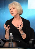 Actress Hellen Mirren speaks about the new HBO Film 'Phil Spector' during the HBO Winter 2013 TCA Panel at The Langham Huntington Hotel and Spa on...