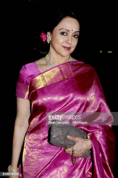 Actress Hema Malini arrives at The Asian Achievers awards at the Grosvenor hotel in London