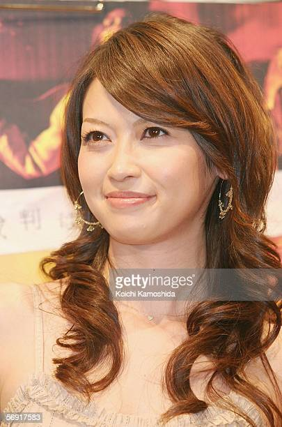 Actress Henmi Emiri attends a press conference promoting the film 'The Exorcism of Emily Rose' at a Tokyo hotel on February 23 2006 in Tokyo Japan...