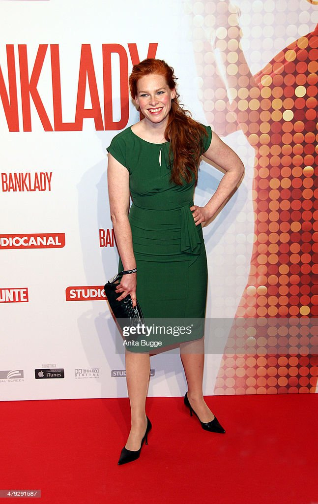 Actress Henny Reents attends the 'Banklady' premiere at Kino International on March 17, 2014 in Berlin, Germany.