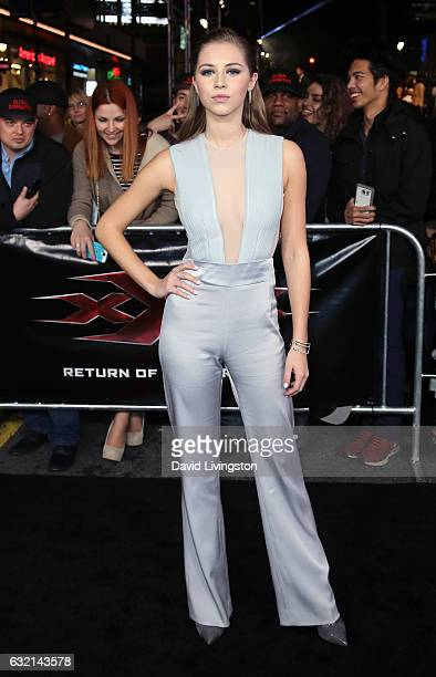 Actress Hermione Corfield attends the premiere of Paramount Pictures' 'xXx Return of Xander Cage' at TCL Chinese Theatre IMAX on January 19 2017 in...