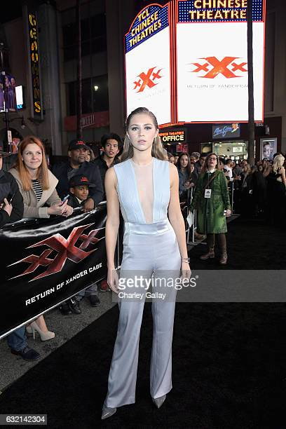 Actress Hermione Corfield attends the LA Premiere of the Paramount Pictures title 'xXx Return of Xander Cage' at TCL Chinese Theatre IMAX on January...