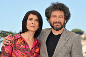 Actress Hiam Abbas and director Radu Mihaileanu at the photo call of 'La source des femmes The source' during the 64th Cannes International Film...