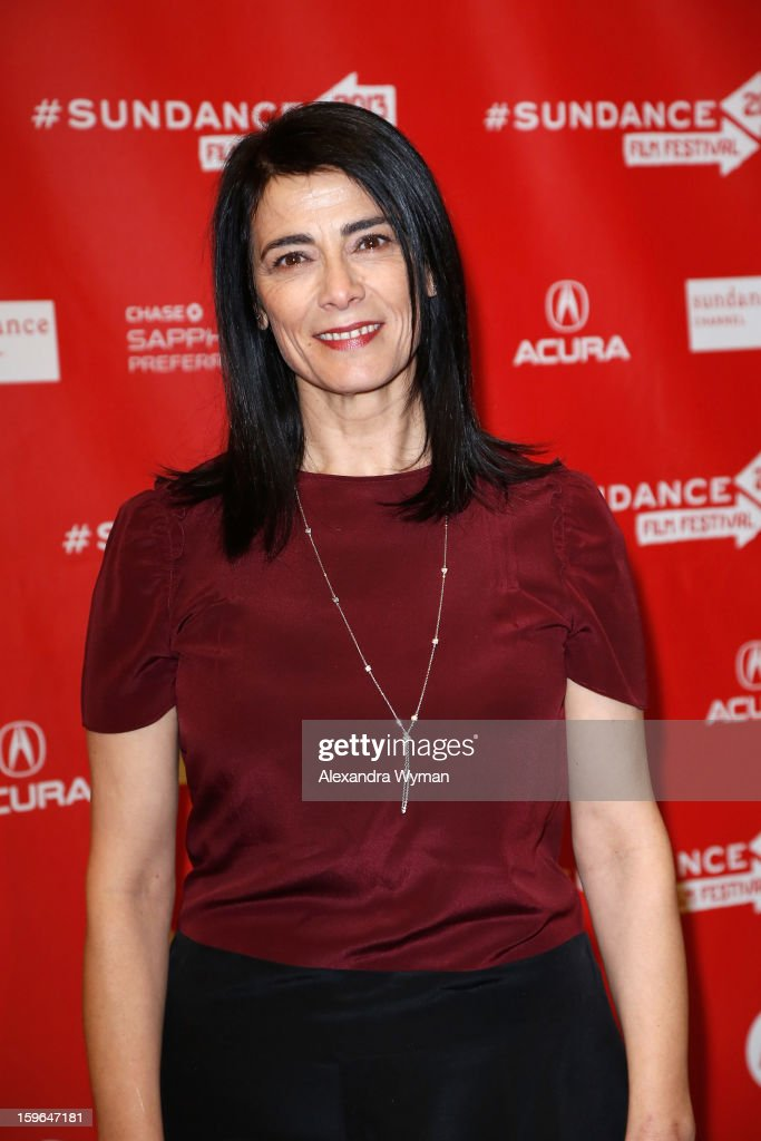 Actress <a gi-track='captionPersonalityLinkClicked' href=/galleries/search?phrase=Hiam+Abbass&family=editorial&specificpeople=2376798 ng-click='$event.stopPropagation()'>Hiam Abbass</a> attends the 'May In The Summer' premiere during the 2013 Sundance Film Festival at Eccles Center Theatre on January 17, 2013 in Park City, Utah.