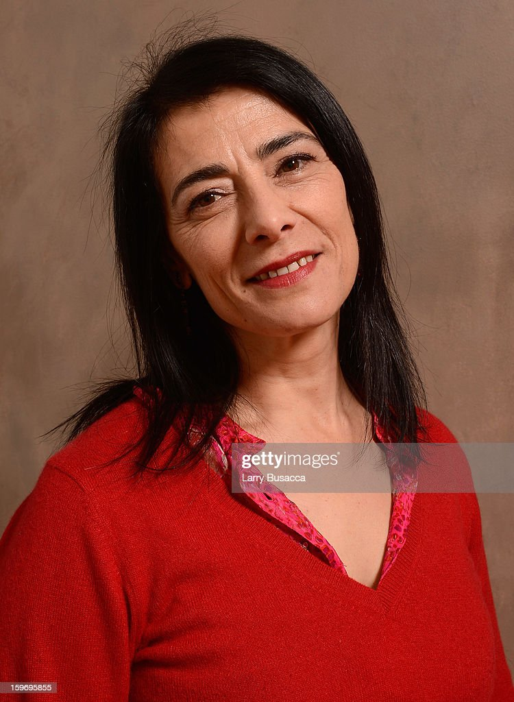 Actress <a gi-track='captionPersonalityLinkClicked' href=/galleries/search?phrase=Hiam+Abbass&family=editorial&specificpeople=2376798 ng-click='$event.stopPropagation()'>Hiam Abbass</a> poses for a portrait during the 2013 Sundance Film Festival at the Getty Images Portrait Studio at Village at the Lift on January 18, 2013 in Park City, Utah.