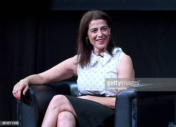 Actress Hiam Abbass speaks onstage during an In Conversation With Hiam Abbass during the 2016 Toronto International Film Festival at Glenn Gould...