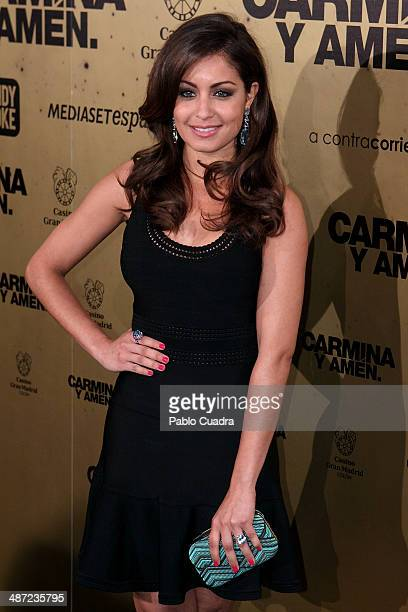 Actress Hiba Abouk attends 'Carmina Y Amen' Premiere on April 28 2014 in Madrid Spain