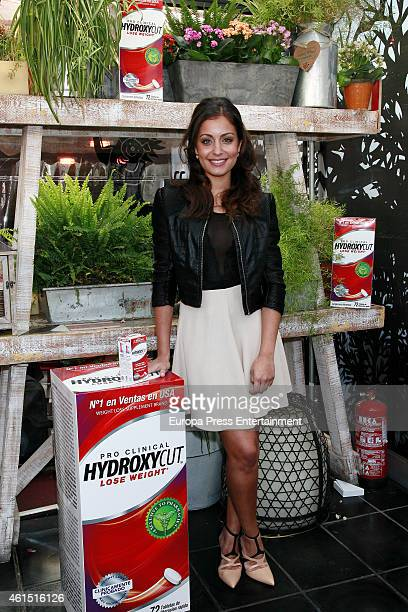 Actress Hiba Abouk presents Hydroxycut a treatment to lose weight on January 13 2015 in Madrid Spain