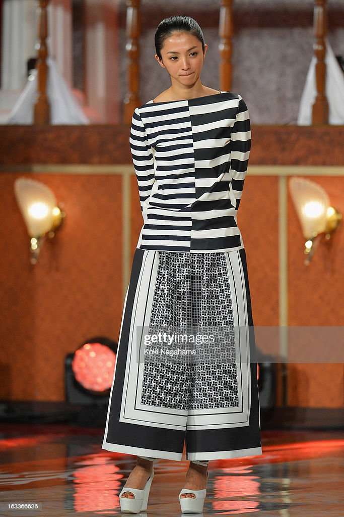 Actress Hikari Mitsushima attends the 36th Japan Academy Prize Award Ceremony at Grand Prince Hotel Shin Takanawa on March 8, 2013 in Tokyo, Japan.