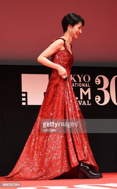 Actress Hikari Mitsushima attends the opening ceremony of the 30th Tokyo International Film Festival at Ex Theater Roppongi on October 25 2017 in...