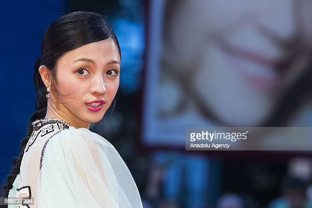 Actress Hikari Mitsushima attends the photocall of the movie 'The Bad Batch' during the 73rd Venice Film Festival at Palazzo del Casino in Venice...
