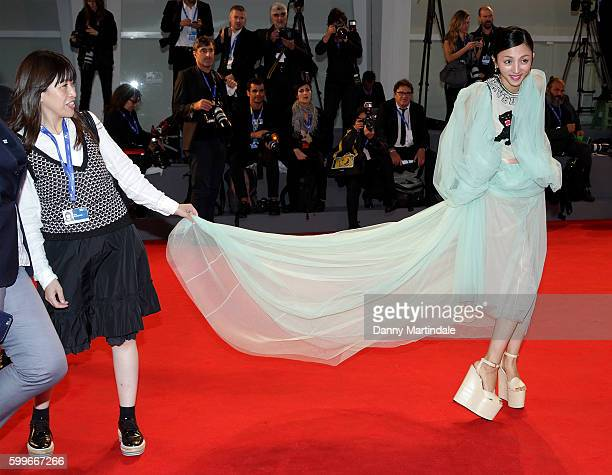 Actress Hikari Mitsushima attends the premiere of 'The Bad Batch' during the 73rd Venice Film Festival at Sala Grande on September 6 2016 in Venice...