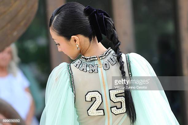 Actress Hikari Mitsushima attends the premiere of 'Traces Of Sin' during the 73rd Venice Film Festival at Sala Darsena on September 6 2016 in Venice...