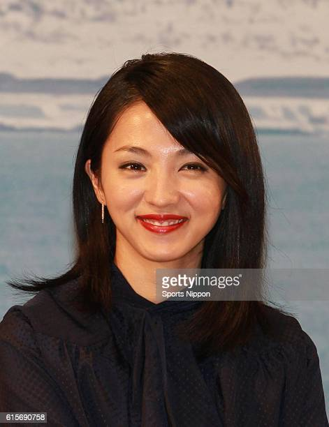 Actress Hikari Mitsushima attends the preview screening of film 'A Chorus of Angels' on October 3 2012 in Tokyo Japan
