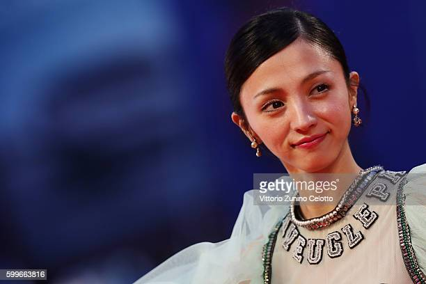 Actress Hikari Mitsushima cast member of the movie 'Gukoroku Traces of Sin' attends the premiere of 'The Bad Batch' during the 73rd Venice Film...